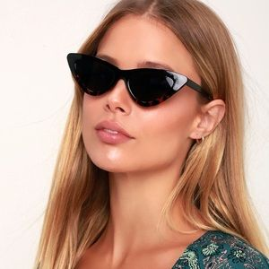 Retro polarized cat eye sunglasses